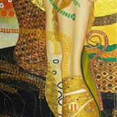'Water Serpents' Gustav Klimt